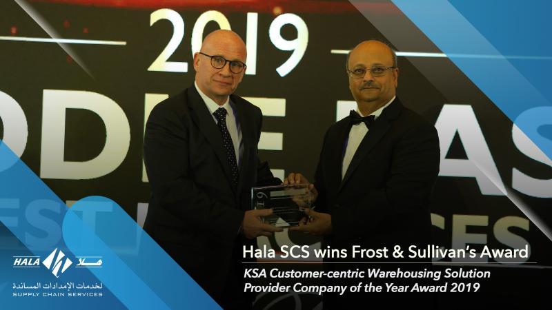 HALA wins Frost & Sullivan's KSACustomer-centric Warehousing Solution Provider Company Awards